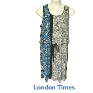 ❤️London Times Stretchy Mixed Print Summer Dress